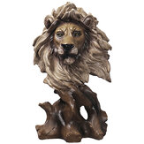Animals Head Art Sculpture Creative Wood Horse Lion Eagle Resin Statue Crafts Home Decoration Business Gifts Supplies