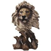 Голова животных художественная скульптура креативная древесина Лошадь лев Eagle статуя из смолы ремесла украшение дома бизнес подарки пост