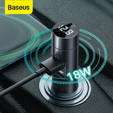 Baseus Car 3.1A PPS Quick Charge Dual USB Charger bluetooth V5.0 FM Transmitter Adapter Modulator Wireless Audio Adapter MP3 Music Player LED Digital Display