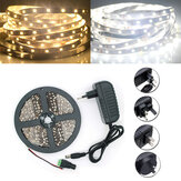 5M SMD 2835 300 LED Wit / Warm Wit LED Strip Flexibel Licht + Voeding + Connector DC 12V