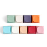 10 PCS Candy Color Blank Keycap Set MA Profile PBT Keycaps for Mechanical Keyboards
