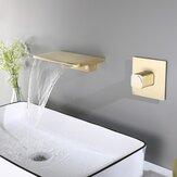 Grifo de cascada de montaje en pared de una sola manija moderna Cuarto de baño Grifo de bañera Lavabo Grifo oculto Mezclador de agua fría caliente