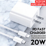 Bakeey 20W USB C Charger Travel Charger Adapter USB-C PD for Lightning Data Cable Fast Charging iPhone 12 Pro Max Mini