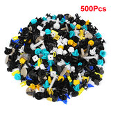 500Pcs Universal Mixed Auto Fastener Car Bumper Porta Painel Fender Liner Clipes Retentor Fastener Rivet