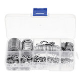 Suleve™ MXSW4 580Pcs Flat Washer Round Assortment Set 304 Stainless Steel M2 to M12