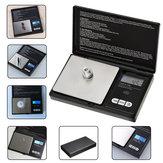 200g x 0.01g Mini Precisie Digitale Weegschaal Keuken Voedsel Herladen Poeder Graan Sieraden Karaat Zwart