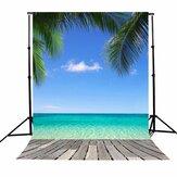 3x5FT Vinyl Summer Blue Sky Playa Coco Photography Telón de fondo Fondo Estudio Prop