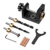 Kit de localizador de guía de perforación para carpintería, broca de agujero de bolsillo de plantilla de pasador de madera para localizador de perforadora de carpintería herramienta