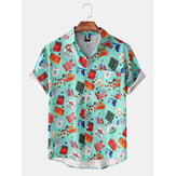 Heren nieuwe Hawaii strand shirts met korte mouwen