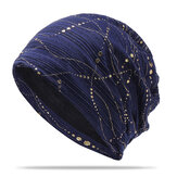 Women Ethnic Cotton Breathable Beanie Cap Fashion Print Brimless Cap