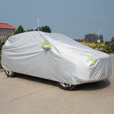 Universal SUV Full Car Cover Outdoor Waterproof Sun Rain Snow Protection UV Auto Case Cover Umbrella Silver