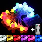 5M 50LED Afstandsbediening Globe Outdoor String Light voor Kerstmis Wedding Party Holiday Decor