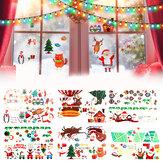 Adesivo de decoração de Natal 2020 Decalques de janelas de vidro Feliz Natal Decoração de casa Adesivos de parede Quarto infantil Papel de parede