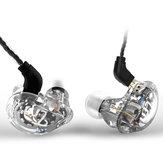 TRN V10 Hybrid 8 Drivers Headphones Dual Balanced Armature Dual Dynamic Drivers Earphone