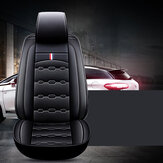 Front Car Fit 5/7 Seat Cover Waterproof Dustproof PU Leather Protector Mat Pad