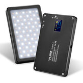 VIJIM VL-1 Rechargeable 96 LEDs 3500k-5700k Magnetic Video Light with Filter Display Screen