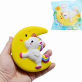 Tegneserie Unicorn Moon Pegasus Squishy 11cm Langsom stigning med emballagesamling Gift Soft Toy Yellow