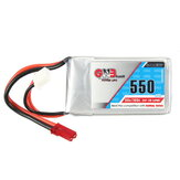 Gaoneng GNB 7.4V 550mAh 2S 80 / 160C Lipo البطارية JST Plug for Aurora 90 100