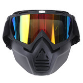 Anti Fog Eyewear Motorcycle Bike Full Face Maschera Goggles Len Nose Helmet Shield