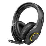 EasySMX VIP002W 2.4G bezprzewodowy zestaw słuchawkowy do gier z mikrofonem z redukcją szumów konstrukcja regulacji głośności dla PS4 PC Laptop