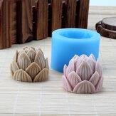 3D handgemaakte siliconen lotusbloem zeep schimmel kaars maken schimmel hars