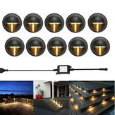 10pcs LED Deck Step Luce scale Garden Outdoor Landscape Yard Pathway Night lampada Kit