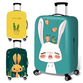 Honana Cute Cartoon Rabbit Elastic Luggage Cover Trolley Case Cover Durable Suitcase Protector for 18-32 Inch Case Warm Travel Accessories