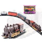 Classic Electric Smoking Montaż Track With Sound Pociąg parowy dla dzieci edukacyjne zabawki upominkowe
