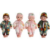 10 Inch 25CM Silicone Vinyl Soft Flexible Lifelike Reborn Baby Doll with Clothes Toy for Kids Collection Gift