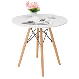 Eames Round Table Modern Coffee Dining Desk Wood Leg Afternoon Tea Table Laptop Desk