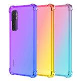 Bakeey Gradient Color dengan Empat Sudut Airbag Tahan Guncangan Tembus Soft TPU Pelindung Case untuk Xiaomi Mi Note 10 Lite Non-original
