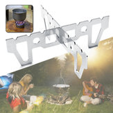 Outdoor Camping Stainless Steel Alcohol Stove Stand Cross Rack Holder Cooking Burner Support Frame