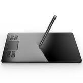 VEIKK A50 10x6 Cal obszar roboczy tablet graficzny do rysowania z 8 klawiszami skrótu i panelem dotykowym z gestami 8192 poziomów długopis bez baterii na komputer Mac