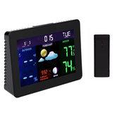 TS-70 LCD Station météo numérique Thermomètre noir Hygromètre Réveil sans fil avec 1 émetteur