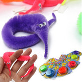 6szt Magic Twisty Fuzzy Worm Wiggle Moving Sea Horse Kids Trick Toy Six Color