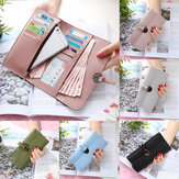 Multifunctional Women PU Leather Large Capacity Long Wallet Card Holder Phone Case Bag