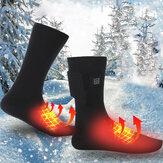 1 paar 3V elektrisch verwarmde sokken USB oplaadbare voetenwarmer Outdoor Winter Sport Fietsen Wandelen Skiën Sokken