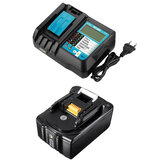 DC18RF Replacement Battery Charger 18V 4A LiIon Battery Replacement Power Tool Battery with LCD Display for Makita
