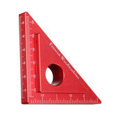 Woodworking 90 Degree Height Ruler Carpenter Square Metric Inch Triangle Ruler Aluminum Alloy DIY Height Measuring Gauging Woodworking Tools