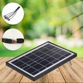 Ηλιακός πίνακας Φορητός φορτιστής τηλεφώνου εξωτερικού χώρου για κάμπινγκ με καλώδιο USB 5 σε 1
