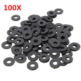 Suleve ™ M3NW1 Preto Flat Nylon Washer OD 8mm para parafusos M3 100pcs