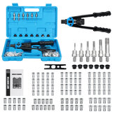 110pcs Rivet Machine Rivet Nut Kit Rivet nut Setting Tools Nut Setter Hand Blind Riveter 14