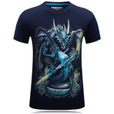 Plus Size S-4XL Mens 3D Animal Pattern Printing Summer T-shirt Casual Personality Short Tees