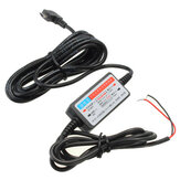Dc 12V-23V to 5V Mini Micro USB مدخل Car Cable Wire Car Car شاحن الة تصوير هاتف GPS Pad
