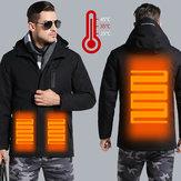رجل الإلكترونية USB ساخنة سترة دافئة التدفئة مقنعين ملابس للدراجات النارية التزلج معطف ركوب