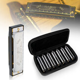 NAOMI 7PCS Blues Harmonica 10 holes C Key Blues Band mondharmonica set met koffer