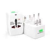 Plugue elétrico branco Poder Tomada Adaptador US Reino Unido UE AU International Universal Travel Tomada Bateria Carregador Conversor de energia