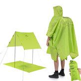 Naturehike NH17D002-M 3 in 1 draagbare wandelponcho regenjas rugzakhoes campingmat zonnescherm