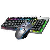 AOC KM410 Проводной Механический Клавиатура & Мышь Набор 1400DPI Мышь 104 Ключи Клавиатура Клавиатуры с подвеской 3D Резиновые Ролик RGB Подсветка для