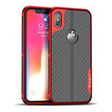 iPaky Plating Anti Fingerprint Protective Case For iPhone X Drop Resistant Heat Dissipation Hard PC